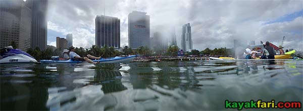 kayakfari.com RedBull Flugtag Miami kayak downtown biscayne bay florida panoramic paddle Flex Maslan