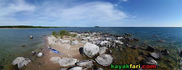 island kayakfari les cheneaux flex maslan michigan lake huron aerial kayak canoe