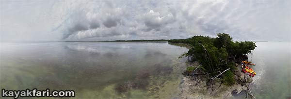 Bradley Key Aerial kayakfari Florida Bay kayak Everglades Flex Maslan canoe panoramic 360 panorama Guy sky Flamingo low tide sea turtle grass Audubon warden