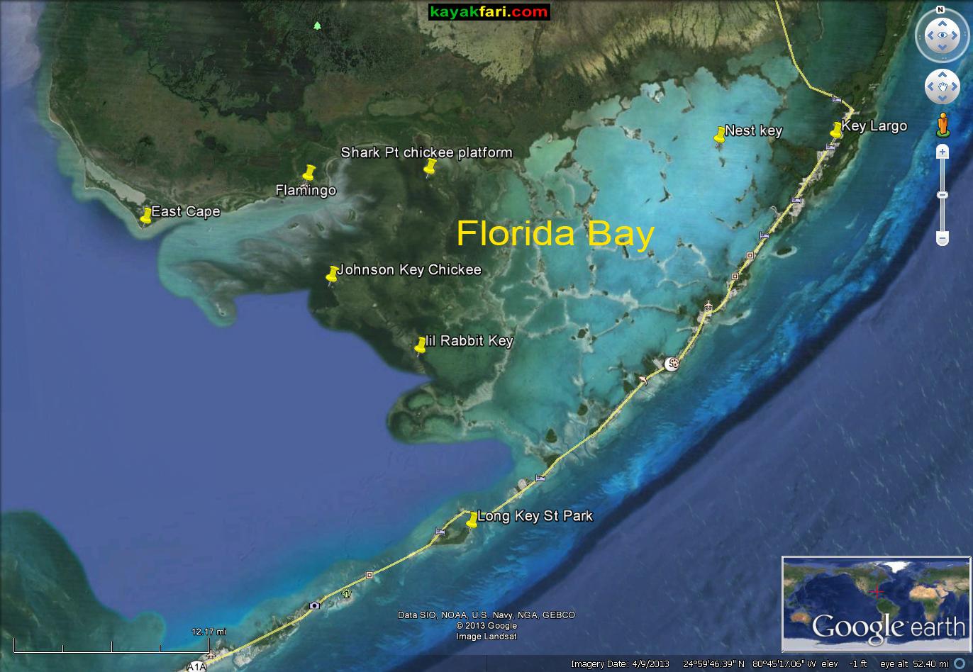 Florida Bay Kayak Everglades kayakfari Camp satellite kayakfari