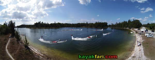 Flex Maslan Jetlev kayakfari Miami kayak biscayne markham bay florida aerial panoramic park