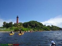 kayak jupiter inlet red lighthouse paddle allamericankayak kayakfari florida Flex Maslan