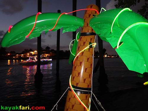 kayakfari.com Boca Raton Holiday kayakfari Parade kayak flex maslan lights night boat photo winterfest