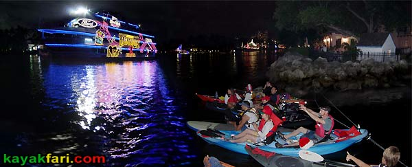 kayakfari Seminole Winterfest Boat Parade Ft Lauderdale Florida flex maslan kayakfari.com kayak canoe photo panorama