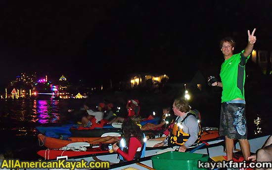kayakfari Seminole Winterfest Boat Parade Ft Lauderdale Florida flex maslan kayakfari.com kayak canoe photo
