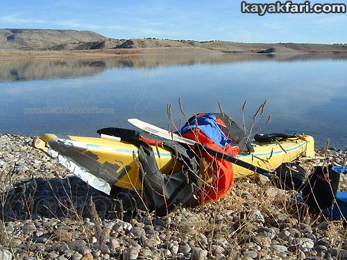 2014 c. Flex Maslan Winter Cochiti Lake kayakfari paddling kayak photography New Mexico snow ice breaker Santa Fe high altitude desert art Rio Grande