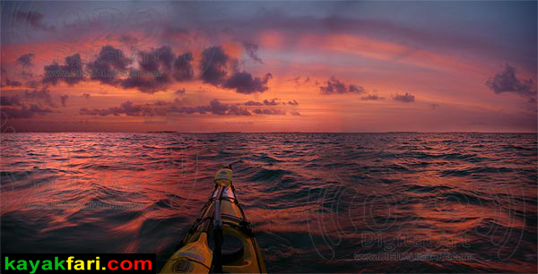 kayakfari photography art Florida Bay aerial kayak Everglades Flex Maslan landscape panoramic print sea Champagne Dawn