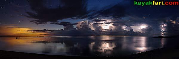 kayakfari photography art Florida Bay aerial kayak Everglades Flex Maslan landscape panoramic print sea Detonation at Dawn extended
