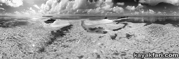 kayakfari photography art Florida Bay aerial kayak Everglades Flex Maslan landscape panormic print sea The Mudflats at Carl Ross Key Aerial black white