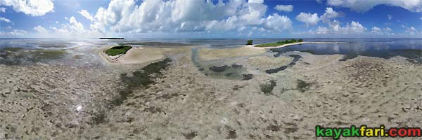 kayakfari photography art Florida Bay aerial kayak Everglades Flex Maslan landscape panormic print sea The Mudflats at Carl Ross Key Aerial