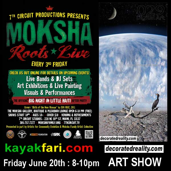 Moksha Art show Flex Maslan kayakfari decoratedreality 7th circuit aerial surreal photography everglades kayak
