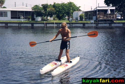 Florida kayakfari split kayak miami shoe Adventure Art Fitness shred kayakfari.com Flex Maslan walk on water ski