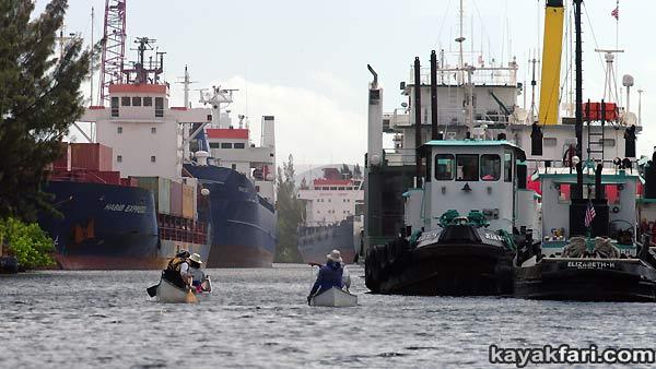 Miami River kayakfari Okeechobee Everglades Flex Maslan canoe expedition paddle River of Grass 2014 kayak florida shipyard