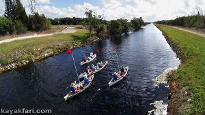 Miami River kayakfari Okeechobee Everglades Flex Maslan canoe expedition paddle River of Grass 2014 kayak florida aerial