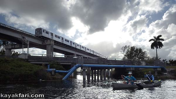 Miami River kayakfari Okeechobee Everglades Flex Maslan canoe expedition paddle River of Grass 2014 kayak metrorail