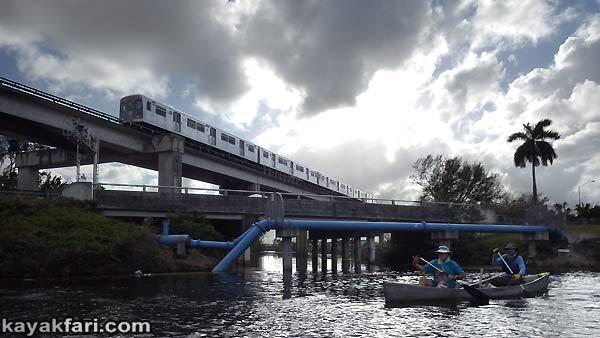 Miami River kayakfari Okeechobee Everglades Flex Maslan canoe expedition paddle River of Grass 2014 kayak metrorail