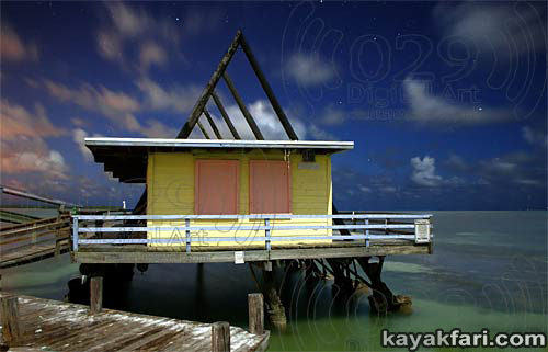 Flex Maslan kayakfari Miami Stiltsville Art Photography decoratedreality kayak Biscayne Bay landscape panoramic Florida Miami's Stiltsville village on Biscayne Bay
