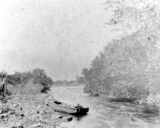 kayak Miami River rapids 1896 kayakfari Okeechobee Everglades canoe paddle Flex Maslan florida floridamemory.com