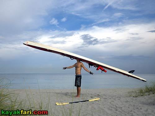 Florida kayakfari hat long surfski kayak miami Adventure Art Fitness ft lauderdale kayakfari.com Flex Maslan beach photography