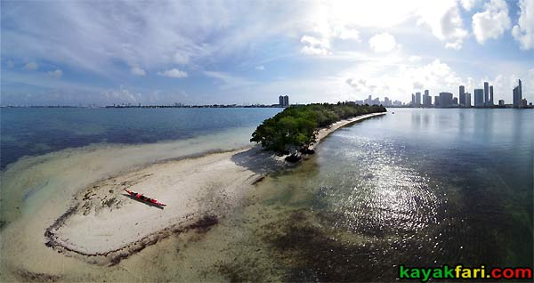Miami Biscayne Bay Florida kayak kayakfari island aerial birds eye kayakfari.com Flex Maslan photography