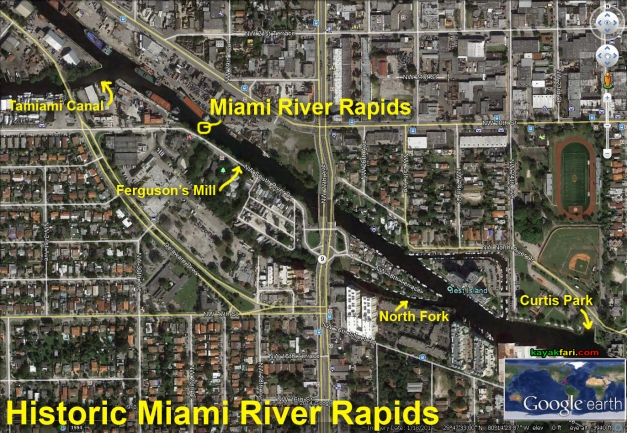 Flex Maslan Miami River night kayakfari paddle kayak canoe full moon shipyard history satellite