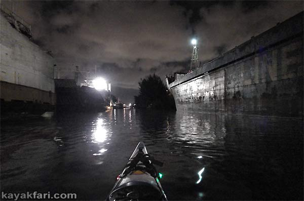 Flex Maslan Miami River night kayakfari paddle kayak canoe full moon shipyard history photography