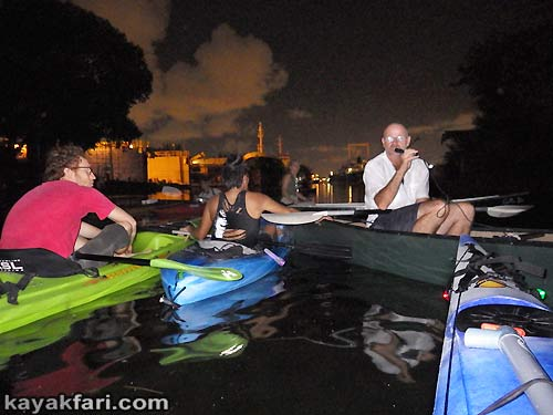 Flex Maslan Miami River night kayakfari paddle kayak canoe full moon shipyard history
