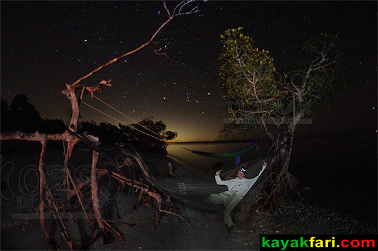 Flex Maslan kayakfari photographer kayak camping stars night Everglades landscape pano print art Florida Bay slough shark camp lu lu