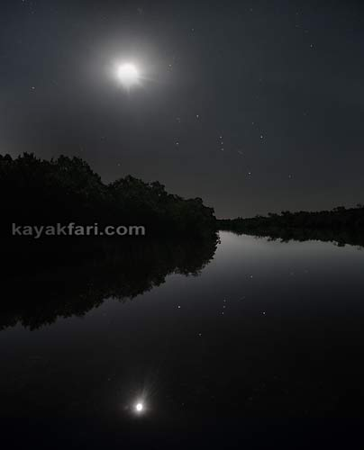 Flex Maslan kayakfari photographer kayak camping stars night Everglades landscape pano print art Florida Bay slough shark willy willy