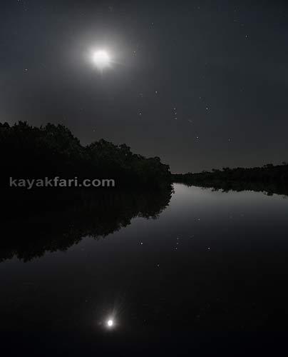Flex Maslan kayakfari photographer kayak camping stars night Everglades landscape pano print art Florida Bay slough shark willy willy