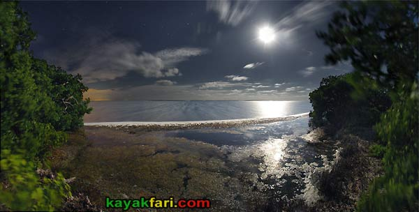 Flex Maslan kayakfari photographer kayak camping stars night Everglades landscape pano print art Florida Bay slough shark full moon rise
