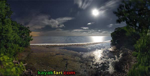 Flex Maslan kayakfari photographer kayak camping stars night Everglades landscape pano print art Florida Bay slough shark full moon rise