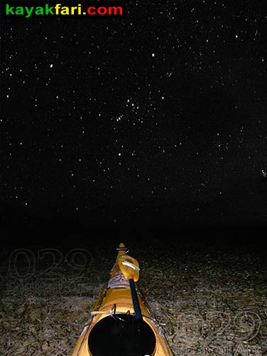 Flex Maslan kayakfari photographer kayak camping stars night Everglades landscape pano print art Florida Bay slough shark orion bank stuck