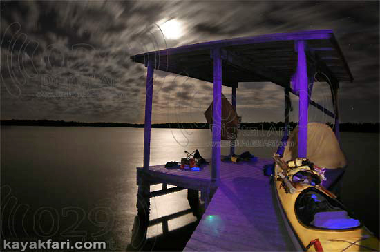 Flex Maslan kayakfari photographer kayak camping stars night Everglades landscape pano print art Florida Bay slough shark hell's bay chickee