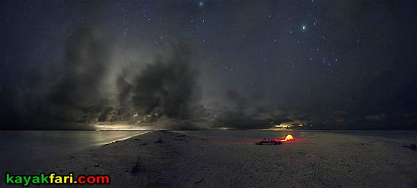 Flex Maslan kayakfari photographer kayak camping stars night Everglades landscape pano print art Florida Bay slough shark cape romano sandbar