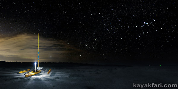 Flex Maslan kayakfari photographer kayak camping stars night Everglades landscape pano print art Florida Bay slough shark beach cayo costa orion