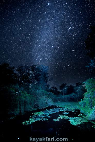 Flex Maslan kayakfari photographer kayak camping stars night Everglades landscape pano print art Florida Bay slough shark big cypress milky way uv