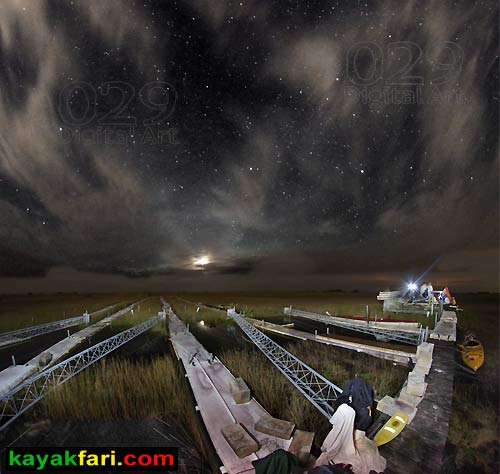 Flex Maslan kayakfari photographer kayak camping stars night Everglades landscape pano print art Florida Bay slough shark river of grass flume platform