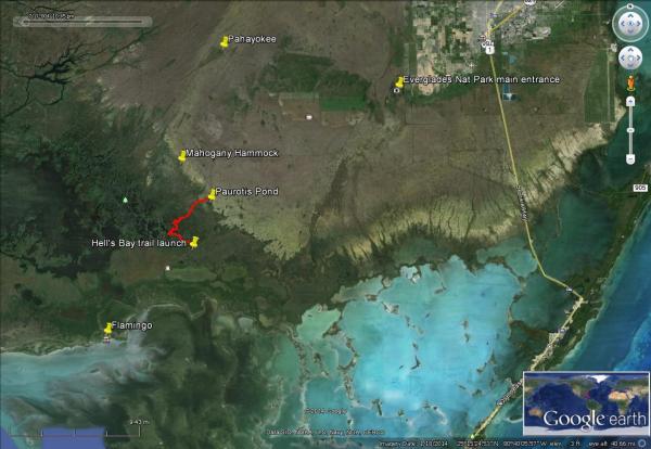 Flex Maslan kayakfari.com Bill Ashley Jungle Herman Lucerne backcountry Paurotis Pond kayakfari aerial Hells Bay canoe kayak trail everglades mangroves satellite