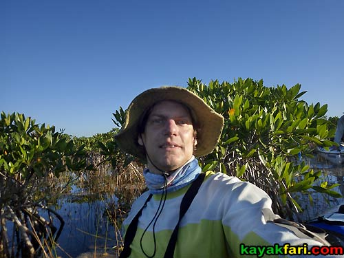 Flex Maslan kayakfari.com Bill Ashley Jungle Herman Lucerne backcountry Paurotis Pond kayakfari aerial Hells Bay canoe kayak trail everglades mangroves invitational selfie