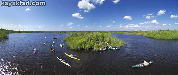 Flex Maslan kayakfari.com Bill Ashley Jungle Herman Lucerne backcountry Paurotis Pond kayakfari aerial Hells Bay canoe kayak trail everglades photographer mangroves