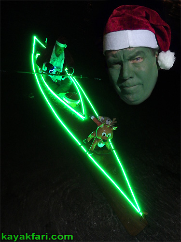 kayakfari Seminole Winterfest Boat Parade Ft Lauderdale Florida flex maslan kayak canoe alien Christmas lights Boca Raton 2014 grinch