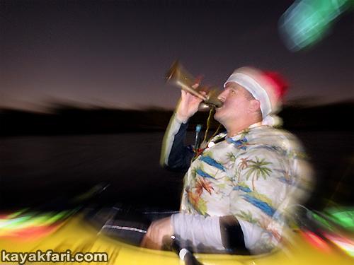 kayakfari Seminole Winterfest Boat Parade Ft Lauderdale Florida flex maslan kayak canoe alien Christmas lights Boca Raton 2014 caroling