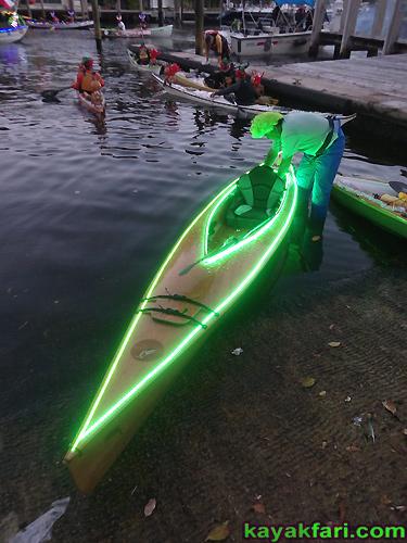 kayakfari Seminole Winterfest Boat Parade Ft Lauderdale Florida flex maslan kayak canoe alien Christmas lights Boca Raton 2014