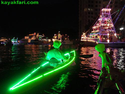 Fort Lauderdale Christmas Boat Parade.Kayaking The 2014 Seminole Hard Rock Winterfest Holiday Boat