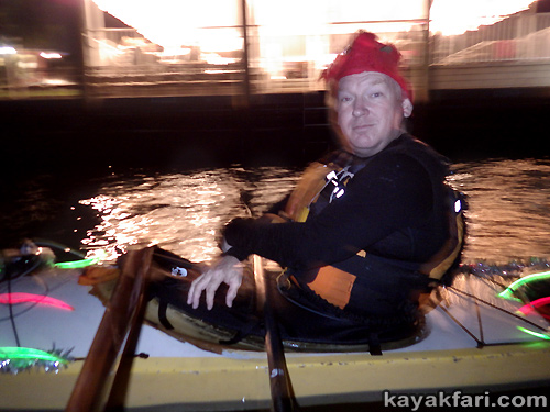 kayakfari Seminole Winterfest Boat Parade Ft Lauderdale Florida flex maslan kayak canoe alien Christmas lights whitney turner