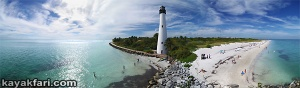 Flex Maslan key biscayne kayakfari cape florida kayak lighthouse miami stiltsville aerial ocean bay beach