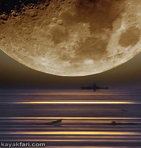 Flex Maslan space kayak art photography kayakfari fantasy orbit florida art photography night alien everglades sky