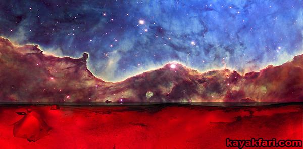 Flex Maslan space kayak art photography kayakfari fantasy night alien everglades sky