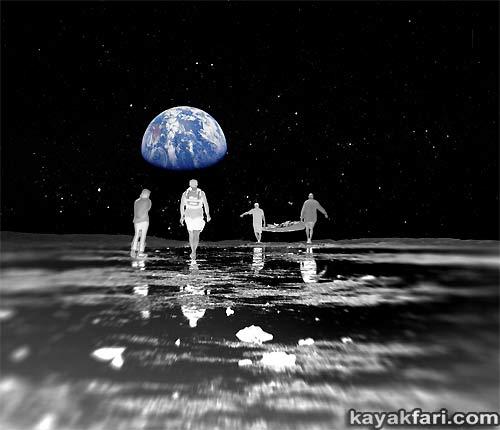 Flex Maslan space kayak art photography kayakfari fantasy